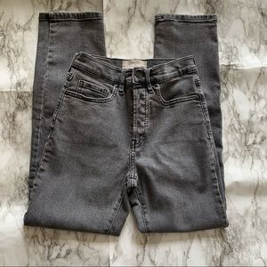 Everlane high rise slim straight ankle jeans 24
